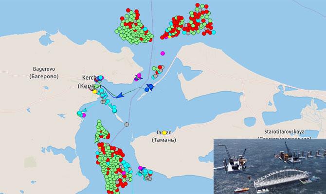 Kerch Strait Blocked Dozens Of Ships Lined Up Both Sides Maritime