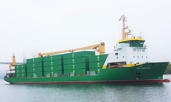 Cargo ship disabled, replaced by another to service French