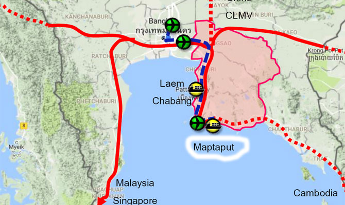 Map Ta Phut Industrial Port Thailand Entering Phase 3 With 18