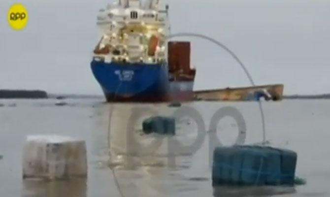 Watch video: German Cargo ship BBC ZARATE collision cut in