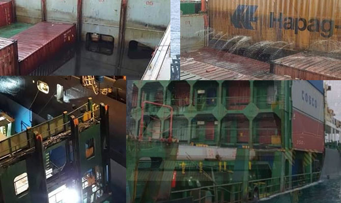 Container ship aground, North Africa UPDATE wreck removal