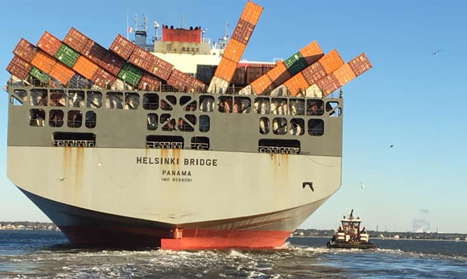 My Insurance Manager >> Container ship containers collapse, loss, Eastern US Coast ...