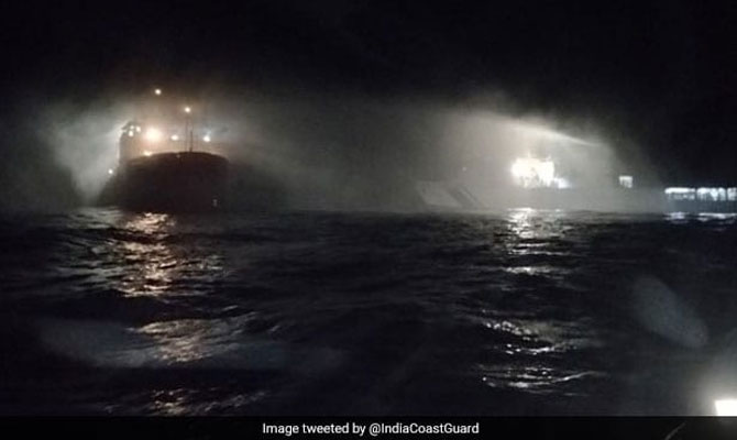 Indian research vessel fire, Arabian sea – Maritime Bulletin