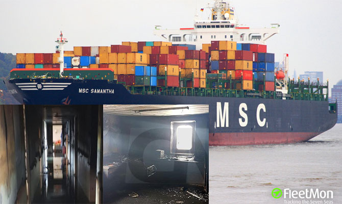 MSC container ship fire, Italy – Maritime Bulletin