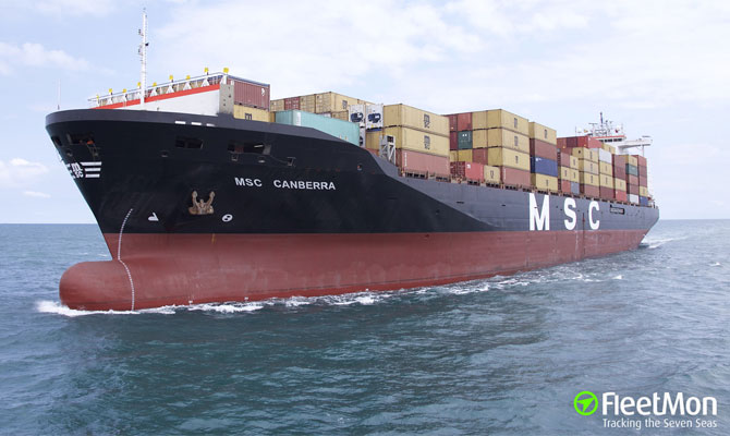 Stowaway tried to set MSC container ship on fire