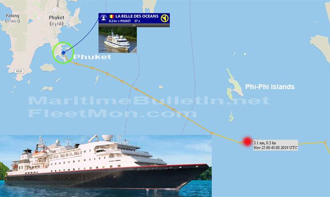 French cruise ship hits rocks close to Phi Phi Island, Thailand