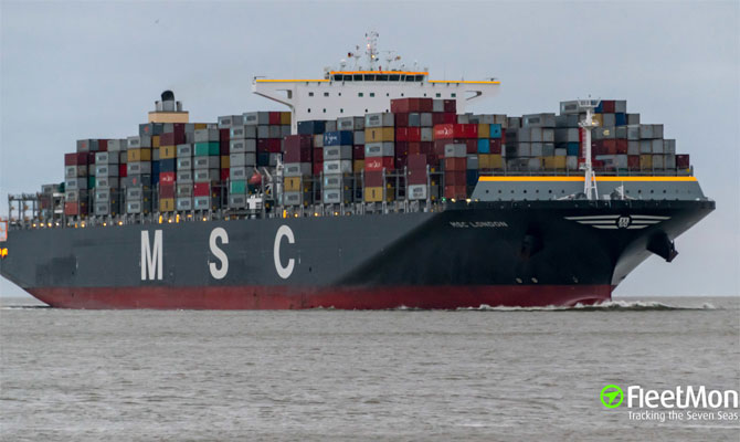 Ultra Large Container Ship Disabled